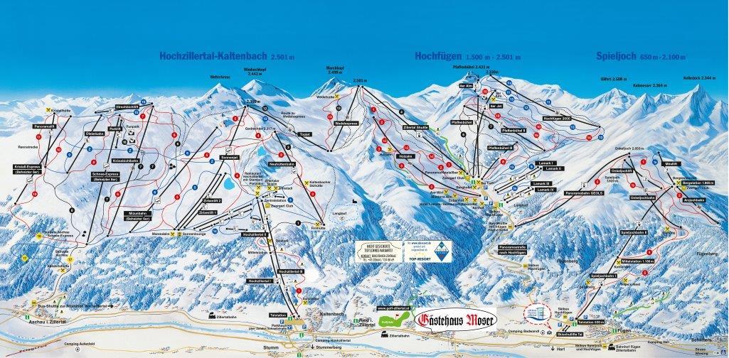 Skigebiete Hochzillertal- Hochfügen-Spieljoch klein