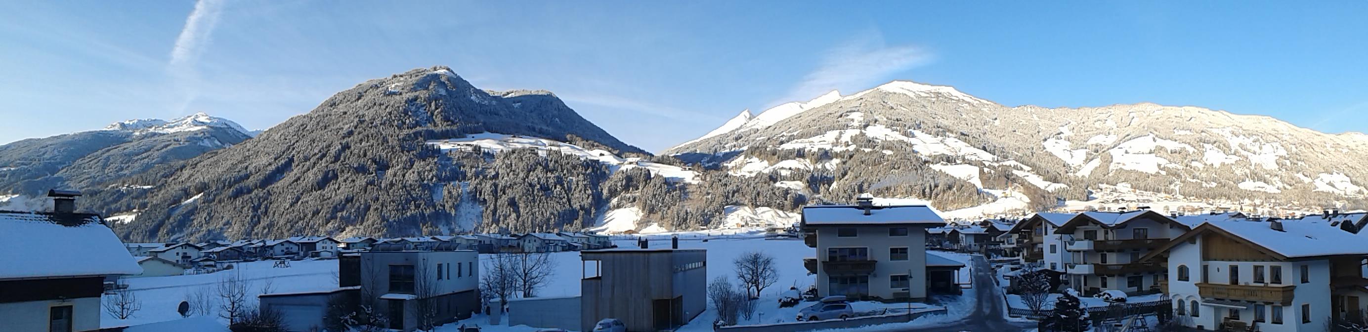 Panorama Wintersonnenaufgang