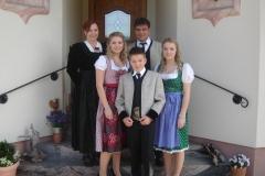 Andreas und Gitti mit Kindern Bianca, Julia und Alexander